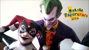 the joker and harley quinn halloween costumes sabi96 papercraft box the joker u0026 harley quinn batman youtube