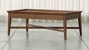 Walnut Coffee Table Bradley Walnut Coffee Table With Drawers Crate And Barrel