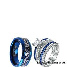 wedding ring sets his and hers white gold white gold engagement wedding ring sets ebay