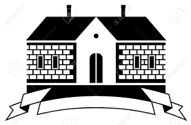 mansion clipart black and white country house vector illustration royalty free cliparts vectors