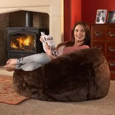 Faux Fur Bean Bag Chairs Big Fur Bean Bag Give Extra Comfort Med Art Home Design Posters