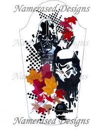 starwars half sleeve design trash polka by namerased on