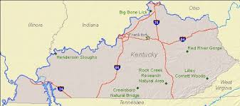 usa map kentucky state national landmarks by state national landmarks