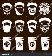 coffee go cup set coffee cup stock vector 98315804 shutterstock