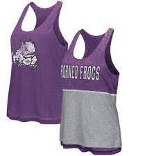 Light Purple Tank Top Tcu Ladies T Shirts Texas Christian University Womens Shirt Tcu