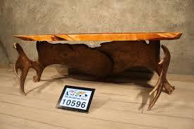 cedar moose horn table 10596 the taxidermy store