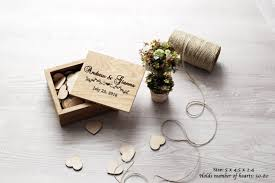 wedding wishes book wooden box for hearts guest book alternative wedding wishes box