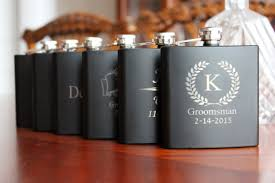 wedding gift groomsmen 7 personalized black flasks groomsmen best usher weddings