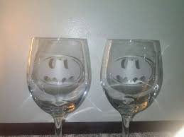 wine glass gift custom batman sandblasted wine glass etched glass tumblers