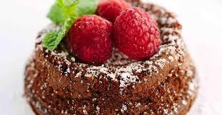 classic chocolate molten lava cake with raspberries jessica gavin