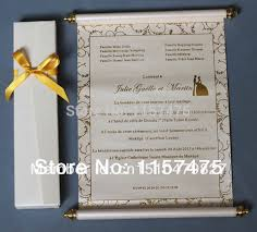 Scroll Invitations Aliexpress Com Buy Hi2051 Sale Scroll Invitations For Party