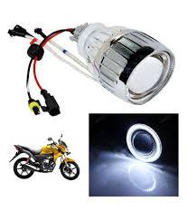 honda twister vheelocityin white ring honda cb twister bi xenon bike projector