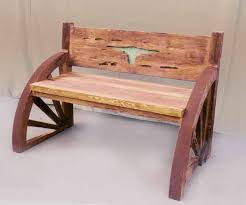 Solid Wood Benches Wood Benches Western Wagon Wheel Bench Western Patio Furniture
