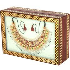 necklace jewellery boxes images Marble jewellery box with closed kundan necklace boontoon jpg