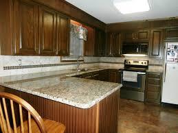 light granite countertops with dark cabinets santa cecilia light granite to create glamour and modern kitchen