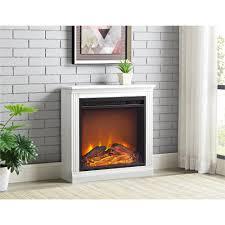 ameriwood furniture bruxton simple fireplace white