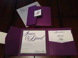 wedding pocket invitations purple and silver glitter custom pocket wedding invitation suite