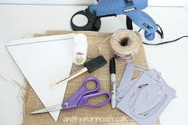 How To Fold A Flag Triangle Diy Burlap Pennant Flag Banner The Few The Proud And This