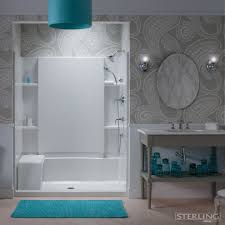 apex plumbing for a contemporary bathroom with a pendant light and
