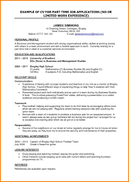 Great Resume Layout Examples Sidemcicek Part Time Job Resume Examples Examples Of Resumes