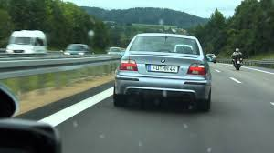 bmw germany bmw m5 vs bmw m5 on german autobahn youtube