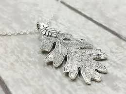 silver leaf necklace pendant images New silver oak leaf necklace ranger 39 s apprentice inspired ebay jpg