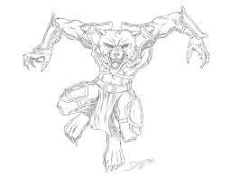 armored werewolf sketch by jamesdenton on deviantart