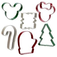 mickey and minnie mouse holiday cookie cutters set christmas