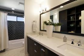 Tile Bathroom Countertop Ideas Framed Mirrors Over Bathroom Countertop Ideas U0026 Photos Houzz