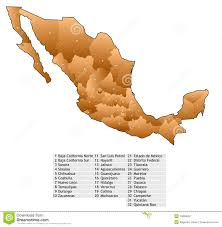 Sinaloa Mexico Map Mexico Map Names Stock Photography Image 10889002