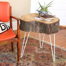 How To Make A Tree Stump End Table by Diy Rustic Modern Tree Stump Table Craftgawker