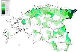 russia map by population russians in estonia