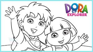 dora the explorer coloring pages epic dora the explorer coloring