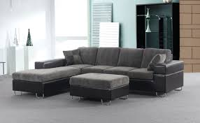 Leather Sectional Sofa With Ottoman by Furniture Gray Leather Sectional Sofa With Ottoman Chrome Legs