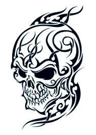 tribal flames skull tattooforaweek temporary tattoos largest