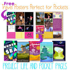 project pocket pages using free disney travel posters in project and pocket pages