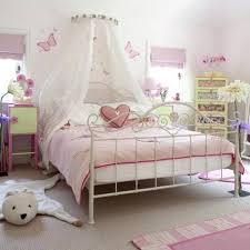 Canopy Bedroom Sets For Girls Cheerful Girls Bedroom With Flowers And Polka Dots Image Of Girls