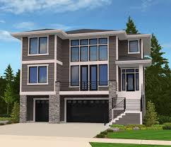 the renicker craftsman styled sloped lot house plans image lot plans front sloping house plan craftsman