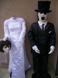 size halloween beheaded bride and ghastly groom zombie gemmy