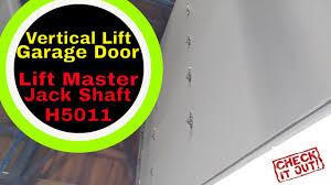 master lift garage door openers vertical lift garage door lift master h5011 jack shaft garage
