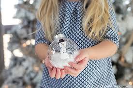 diy snowman ornament blooming homestead