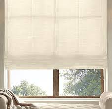 Roman Shade With Curtains Sheer Linen Flat Roman Shade