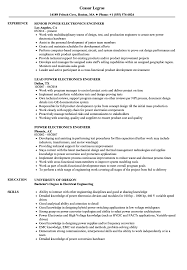 cv format for electrical and electronics engineers benefits of yoga power electronics engineer resume sles velvet jobs