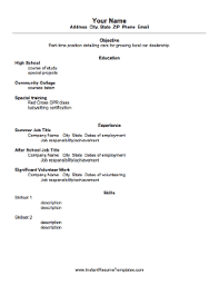 Examples Of Academic Resumes by Example Of A High Resume For College