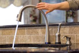 touch free kitchen faucet leaky kitchen faucet moen banbury single handle low arc standard