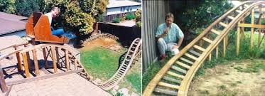 roller coaster for backyard these homemade roller coasters inspire you to make one in your