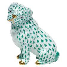 herend sitting pug figurines pet figurines herend figurines