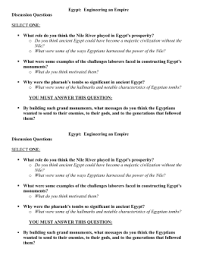 engineering an empire egypt video worksheet