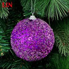 wholesale hanging christmas ornaments decorate 10cm purple bubble