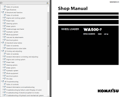 komatsu wheel loader wa500 7 shop manuals pdf repair manual